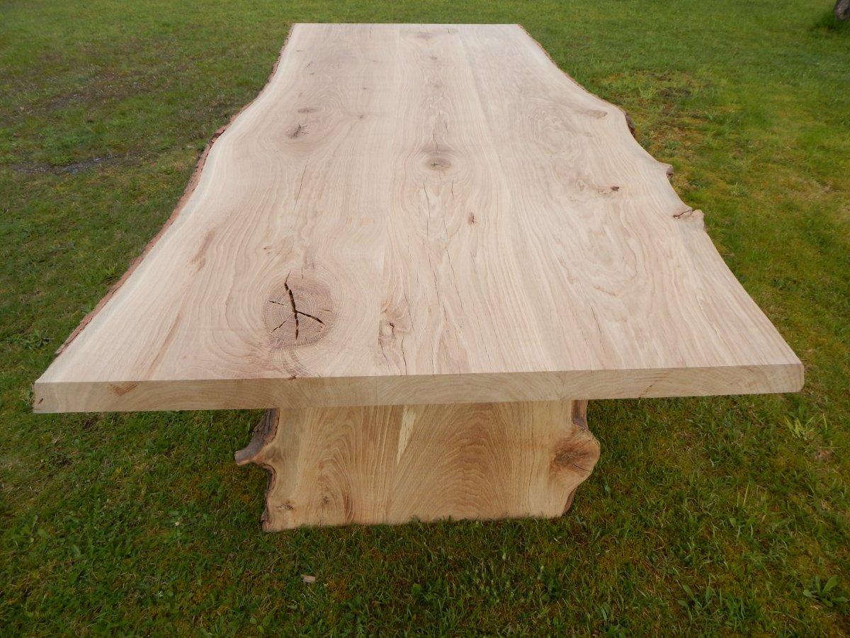 Ordinaire Hier Kaufen Sie Nicht Nach Beispielfoto, Sondern Einen Schon Gefertigten  Eiche Baumkantentisch.