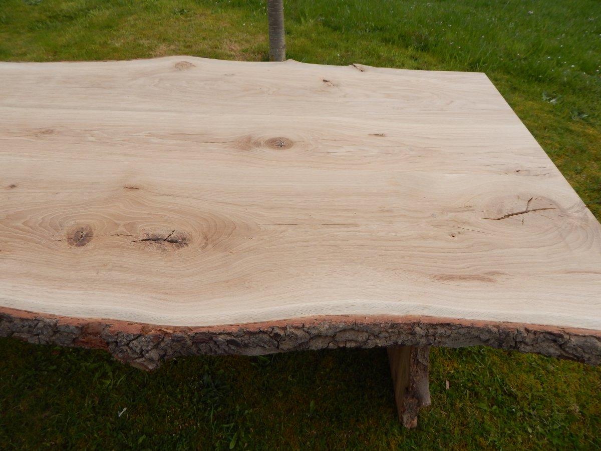 Genial Hier Kaufen Sie Nicht Nach Beispielfoto, Sondern Einen Schon Gefertigten  Eiche Baumkantentisch.